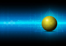 Sphere metric concept technology Royalty Free Stock Image