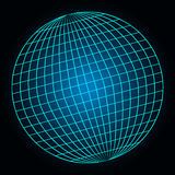 Sphere with modern neon glow. Stock Photos