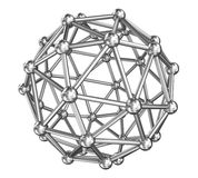 Sphere molecule connect, steel model Royalty Free Stock Images