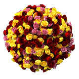 Sphere of multicolored roses Royalty Free Stock Image