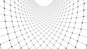 Sphere with network connection lines for technology concept. Abstract architectural shape. 3d illustration Royalty Free Stock Images
