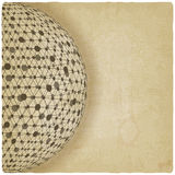 Sphere network old background Royalty Free Stock Images