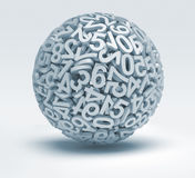 Sphere of numbers Royalty Free Stock Photo