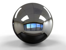 Sphere office view reflection Royalty Free Stock Photos