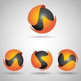 Sphere orange Royalty Free Stock Photo