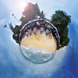 Sphere panorama of beach in Pattaya Thailand Royalty Free Stock Photo