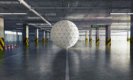 Sphere in the parking Stock Photography