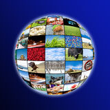 Sphere of photos Royalty Free Stock Photo