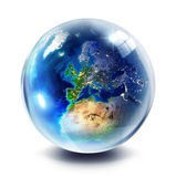 Sphere planet  - Europe Royalty Free Stock Images