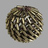Sphere, planet made of bullets Stock Photos