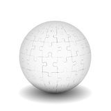 Sphere of puzzles Stock Photos