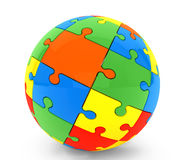Sphere from puzzles Stock Photo