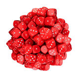 Sphere from red dice Royalty Free Stock Images