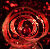 Sphere with red ribbon Stock Photos