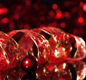 Sphere with red ribbon Royalty Free Stock Photography
