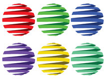 Sphere ribbons Stock Photo