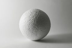 Sphere rough surface. Light and shadow concept Royalty Free Stock Photo
