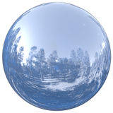 Sphere round button chrome ball basic circle geometric shape Stock Image