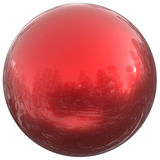 Sphere round button red ball basic circle geometric shape. Solid figure simple minimalistic atom element single blood drop shiny clean sparkling object blank Royalty Free Stock Photo