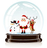 Sphere with Santa Claus Stock Photography