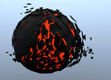 Sphere Shattered Abstract 3d Stock Photo