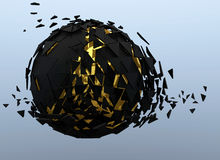 Sphere Shattered Abstract 3d isolated Stock Image