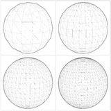 Sphere From The Simple To The Complicated Shape Vector 07 Royalty Free Stock Photos