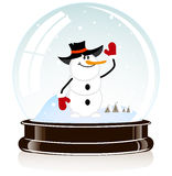 Sphere with a snowman Stock Image