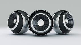 Sphere speaker 3D Royalty Free Stock Images