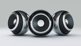 Sphere speaker 3D Royalty Free Stock Images