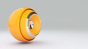 Sphere speaker 3D Stock Images