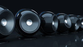 Sphere speaker 3D Royalty Free Stock Photo