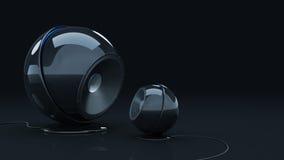 Sphere speaker 3D. Sphere speaker - Design made in 3D stock illustration