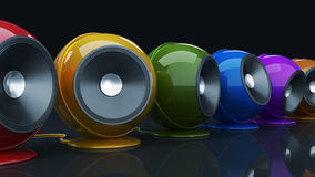 Sphere speaker 3D Stock Images