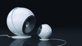 Sphere speaker 3D. Sphere speaker - Design made in 3D royalty free illustration