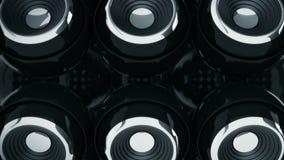 Sphere speaker 3D stock video