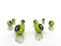 Sphere speakers Stock Image