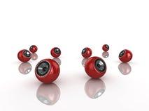 Sphere speakers Stock Photos