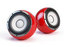 Sphere speakers Royalty Free Stock Photo