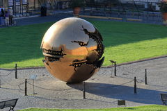 Sphere within Sphere by Arnaldo Pomodoro in Belvedere Courtyard Royalty Free Stock Photos