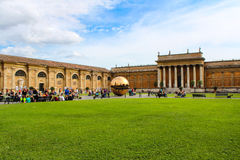 Sphere within sphere at Cortile della Pigna Royalty Free Stock Images