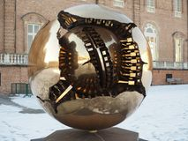Sphere Within Sphere by Pomodoro in Venaria royalty free stock image