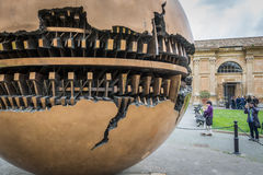 Sphere within Sphere. Sculpture at Vatican Stock Photography