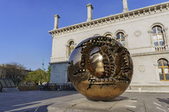 Sphere Within Sphere. Special artwork - Sphere Within Sphere at Dublin, Ireland Royalty Free Stock Photo