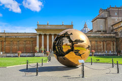 Sphere within sphere in Vatican Museums Stock Images