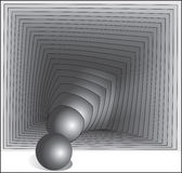 Sphere in a square. Stock Photo