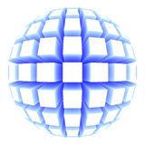 Sphere with square faces Royalty Free Stock Photo