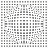 Sphere with square pattern Stock Image