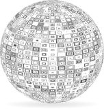 Sphere with squares and rectangles Royalty Free Stock Photography