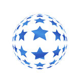 Sphere with stars Royalty Free Stock Images